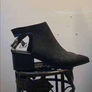 Open back boots brand new